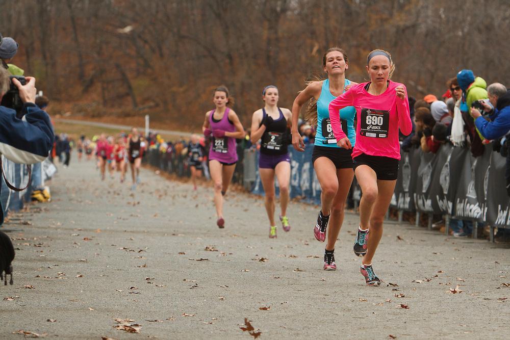 Foot Locker Cross Country Northeast Regional Championship race, Kara Steinke, PA, Josette Norris, NJ