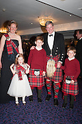 DIANA SCOTT AND FAMILY, The Royal Caledonian Ball 2013. The Great Room, Grosvenor House. Park lane. London. 3 May 2013.