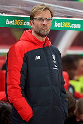 STOKE-ON-TRENT, ENGLAND - Tuesday, January 5, 2016: Liverpool's manager Jürgen Klopp before the Football League Cup Semi-Final 1st Leg match against Stoke City at the Britannia Stadium. (Pic by David Rawcliffe/Propaganda)