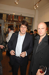 DJ MIKE READ at a private view of artist Hsiao-Mei Lin's paintings held at the Adam gallery, 24 Cork Street, London on 28th April 2008.<br />