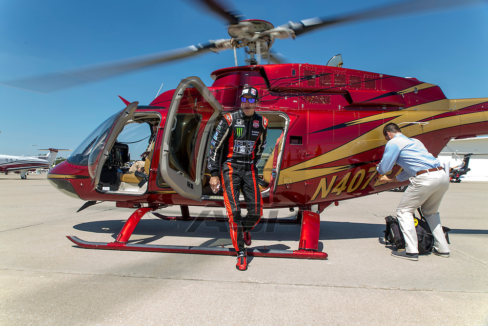 Indianapolis, IN - May 25, 2014:  NASCAR driver, Kurt Busch (26), lands at Indianapolis International Airport and climbs on board his Cessna Citation X and travels to Concord NC to run the Coca-Cola 600 NASCAR race.  <br /> <br /> MANDATORY PHOTO CREDIT:  Walter G. Arce, Sr. KBI/ActionSportsInc.com