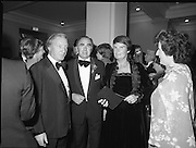 (N92)..1981..09.09.1981..9th September 1981..The President ,Dr Patrick Hillery, officially opened the new National Concert  Pictured at the State opening of the National Concert Hall, Earlsfort Terrace Dublin, former Taoiseach Charles Haughey and Mrs Maureen Haughey. Between Mr and Mrs Haughey is National Concert Hall board member and Chair of the Dublin Grand Opera Society Donald Potter.  To Mrs Haughey's left is Veronica Dunne, another member of the board.The venue was officially opened by President Patrick Hillery, followed by the premier concert featuring the Radio Telefí­s Éireann Symphony Orchestra with a large<br />