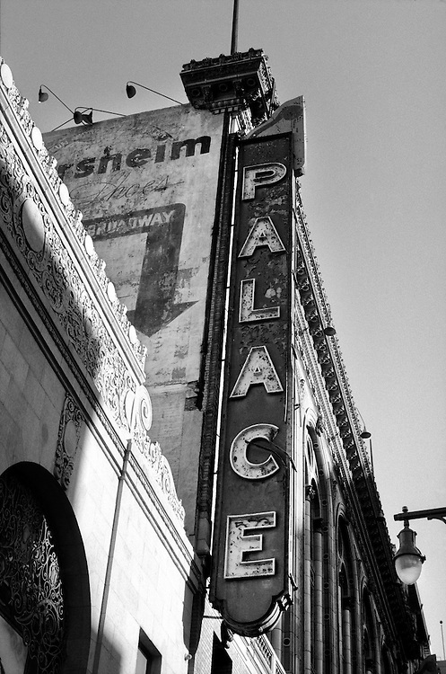 Palace Theatre Sign on Broadway in Downtown Los Angeles, CA. (USA)<br />