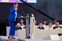22 NOV 2019, LEIPZIG/GERMANY:<br /> Wolfgang Schaeuble, CDU, Praesident des Deutschen Bundestages, Angela Merkel, CDU, Bundeskanzlerin, und Ursula von der Leyen, CDU, gewaehlte Praesidentin der Europaeischen Kommission, und Peter Altmeier, CDU, Bundeswirtschaftsminister, (hinten v.L.n.R.), waehrend der Rede von Annegret Kramp-Karrenbauer (vorne), CDU Bundesvorsitzende und Bundesverteidigungsministerin, CDU Bundesparteitag, CCL Leipzig<br /> IMAGE: 20191122-01-069<br /> KEYWORDS: Parteitag, party congress, Wolfgang Schäuble