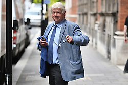 © Licensed to London News Pictures. 18/06/2019. London, UK. STANLEY  JOHNSON, father of Boris Johnson, is seen in Westminster ahead of a vote on the leadership of the Conservative Party. At least one of the candidates will be forced to drop out of the race to be the next Prime Minister, in a vote held by Conservative MPs at Parliament this afternoon. . Photo credit: Ben Cawthra/LNP