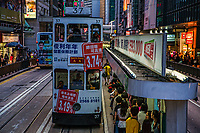 Electric Tram, Des Voeux Road, Central