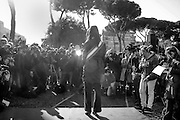 Virginia Raggi in visita al circo massimo<br />