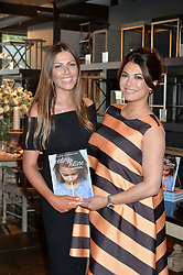 Left to right, TALI SHINE and LOHRALEE ASTOR at a party to celebrate the publication of 'Feeding The Future' by Lohralee Astor and Tali Shine held at OKA,155-167 Fulham Road, London on 8th June 2016.