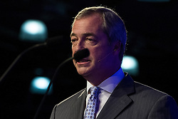 © Licensed to London News Pictures . 25/09/2015 . Doncaster , UK . NIGEL FARAGE speaks at the 2015 UKIP Party Conference at Doncaster Racecourse , this afternoon (Friday 25th September 2015) . Photo credit : Joel Goodman/LNP