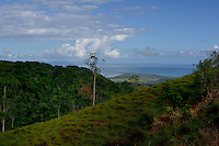 Samana Peninsula in the background. From the top of the mountains between Pedro Sánchez and Miches in The Dominican Republic.