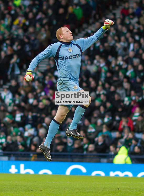 Craig Samson celebrates the St Mirren second goal vs Celtic