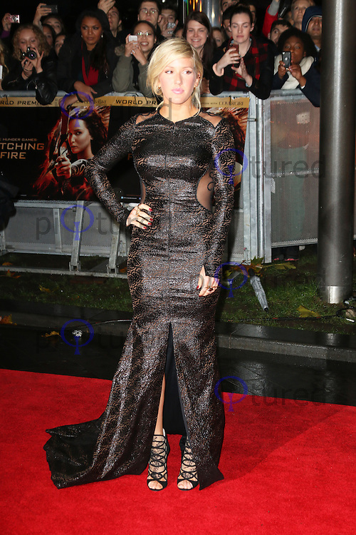 Ellie Goulding, The Hunger Games: Catching Fire - World film premiere, Leicester Square, London UK, 11 November 2013, Photo by Richard Goldschmidt