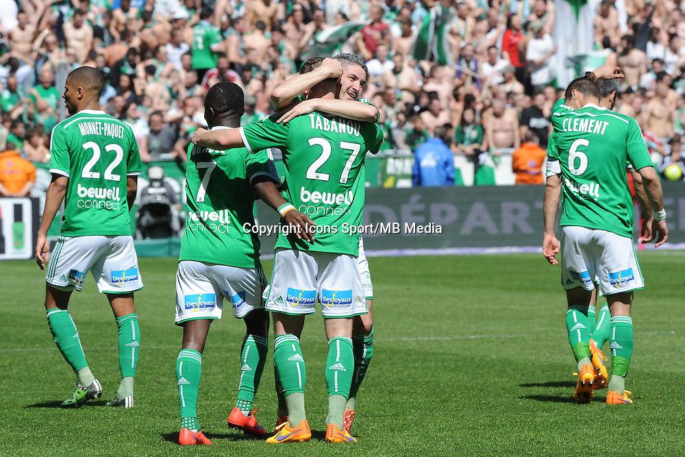 JOIE DE Franck TABANOU  - 12.04.2015 - Saint Etienne / Nantes - 32eme journee de Ligue 1 <br /> Photo : Jean Paul Thomas / Icon Sport