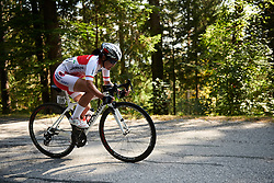 Eri Yonamine (JPN) at UCI Road World Championships 2018 - Elite Women's Road Race, a 156.2 km road race in Innsbruck, Austria on September 29, 2018. Photo by Sean Robinson/velofocus.com