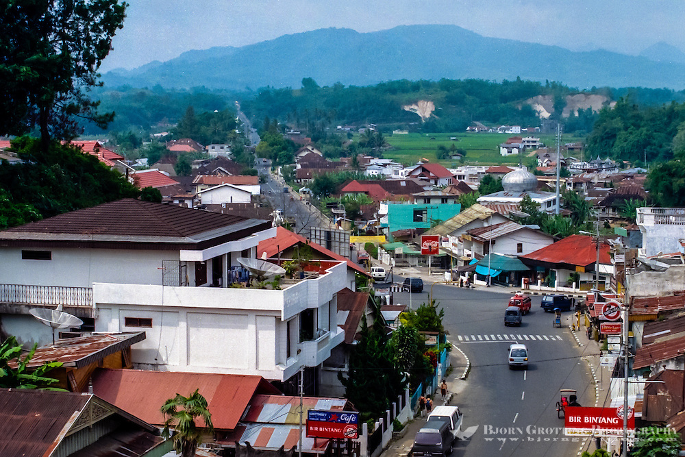 West Sumatra. Bukittinggi means high hills, and is a popular destination for travellers.