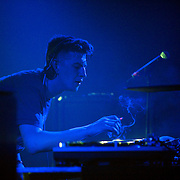 March 28, 2012 - New York, NY : British dubstep music producers (DJ's) Skream (pictured here with cigarette) & Benga (not pictured) perform at the Best Buy Theater in Manhattan on Wednesday evening. CREDIT: Karsten Moran for The New York Times