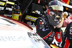 April 13, 2018 - Bristol, Tennessee, United States of America - April 13, 2018 - Bristol, Tennessee, USA: John Hunter Nemechek (42) prepares to strap into his Chip Ganassi Racing Chevrolet before opening practice for the Fitzgerald Glider Kits 300 at Bristol Motor Speedway in Bristol, Tennessee. (Credit Image: © Chris Owens Asp Inc/ASP via ZUMA Wire)