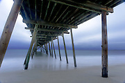 Wrightsville Beach's Oceanic Pier stands in contrast to morning's light along the North Carolina coast.<br /> Photos By Jeff Janowski Photography
