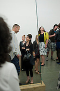 Wolfgang Tillmans ; Maureen Paley, Michelangelo Pistoletto: The Mirror of Judgement, Serpentine Gallery. Lond11 July 2011. on. <br /> <br />  , -DO NOT ARCHIVE-© Copyright Photograph by Dafydd Jones. 248 Clapham Rd. London SW9 0PZ. Tel 0207 820 0771. www.dafjones.com.
