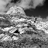 Doocot on the Clifftop along the Fife Coast Path at Newark Castle near St Monans East Neuk of Fife Scotland
