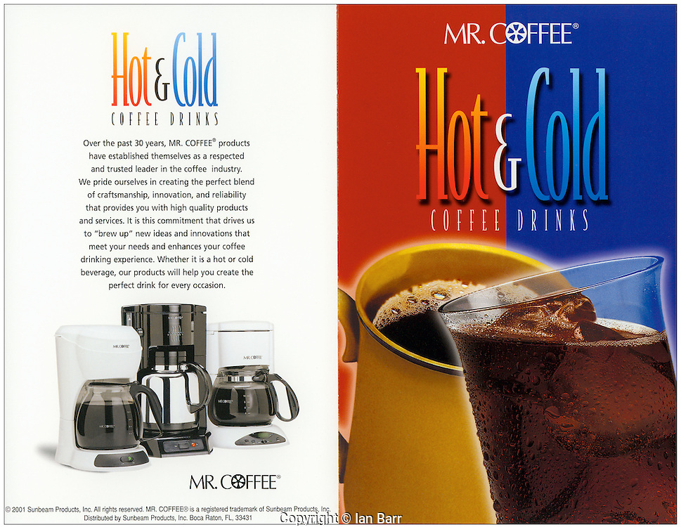 Mr Coffee hot and cold Ad