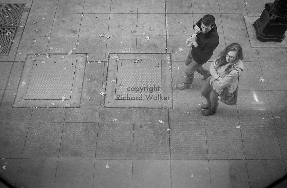 2016 October 22 - Street scene along First Avenue seen from window at Seattle Art Museum, Seattle, WA, USA. By Richard Walker