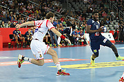 Dika Mem (France) during the EHF 2018 Men's European Championship, 1/2 final Handball match between France and Spain on January 26, 2018 at the Arena in Zagreb, Croatia - Photo Laurent Lairys / ProSportsImages / DPPI