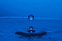 High speed flash photography of water droplets.