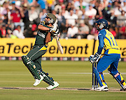 Shahid Afridi bats during the ICC World Twenty20 Cup Final between Sri Lanka and Pakistan at Lord's. Photo © Graham Morris (Tel: +44(0)20 8969 4192 Email: sales@cricketpix.com)