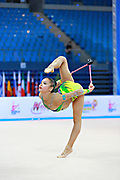 Assymova Aliya during qualifying at clubs in Pesaro World Cup 11 April 2015.<br />