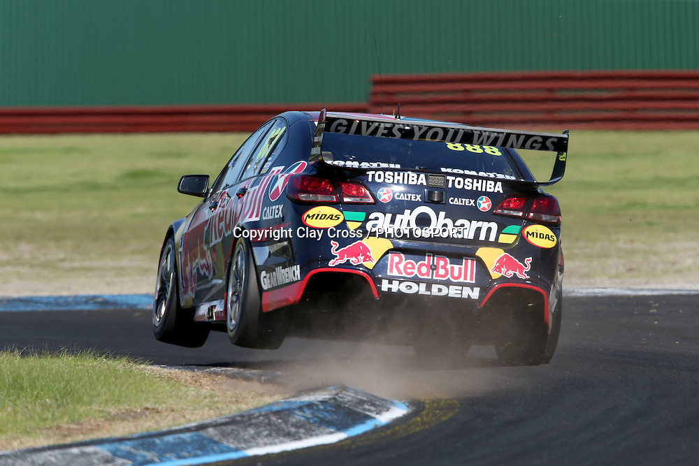 Craig Lowndes & Steve Richards (Red Bull Holden). 2015 Wilson Security Sandown 500. V8 Supercars Championship Round 9. Sandown International Raceway, Victoria. Sunday 13 September 2015. Photo: Clay Cross / photosport.nz