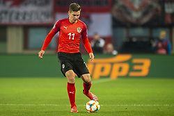 March 21, 2019 - Vienna, Austria - Maximillian Wober of Austria in action during the UEFA European Qualifiers 2020 match between Austria and Poland at Ernst Happel Stadium in Vienna, Austria on March 21, 2019  (Credit Image: © Andrew Surma/NurPhoto via ZUMA Press)