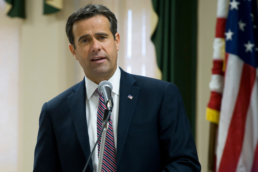 Congressional candidate John Ratcliffe speaks with the Lamar-Delta Teachers & School Employees Association at Paris Junior College in Paris, Texas on March 24, 2014. (Cooper Neill)