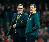Head Coach Rassie Erasmus of South Africa during the pre match warm up<br /> <br /> Photographer Simon King/Replay Images<br /> <br /> Under Armour Series - Wales v South Africa - Saturday 24th November 2018 - Principality Stadium - Cardiff<br /> <br /> World Copyright &copy; Replay Images . All rights reserved. info@replayimages.co.uk - http://replayimages.co.uk