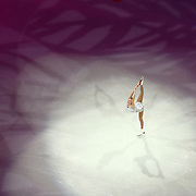 Polina Edmunds is seen during the Smucker's Skating Spectacular at the TD Garden on January 12, 2014 in Boston, Massachusetts.
