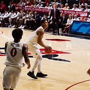 22 December 2018: San Diego State Aztecs forward Matt Mitchell (11) takes another open three point shot in the first half. The Aztecs beat the Cougars 90-81 Satruday afternoon at Viejas Arena.