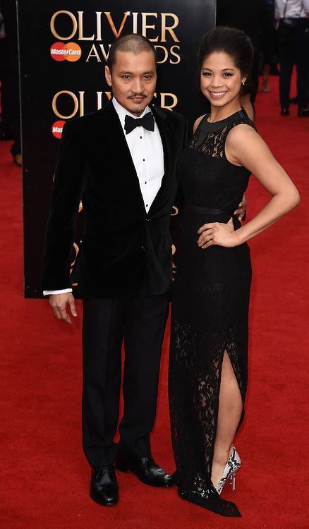 Jon Jon Briones and Eva Noblezada attend The Laurence Olivier Awards at The Royal Opera House, Covent Gardens, London on Sunday 12 April 2015