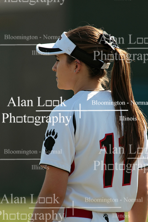 09 May 2014:  Audrey Djukic during an NCAA Division III women's softball championship series game between the Lake Forest Foresters and the Illinois Wesleyan Titans in Bloomington IL