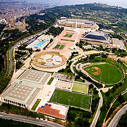 Aerial view of L'Anella Olimpica