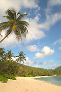 Two boys on the beach at Baie Lazare<br /> Mahe, The Seychelles<br /> c. Ellen Rooney