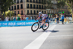Rozanne Slik (NED) of FDJ Nouvelle Aquitaine Futuroscope Team leans into a corner during Stage 2 of the Madrid Challenge - a 100.3 km road race, starting and finishing in Madrid on September 16, 2018, in Spain. (Photo by Balint Hamvas/Velofocus.com)