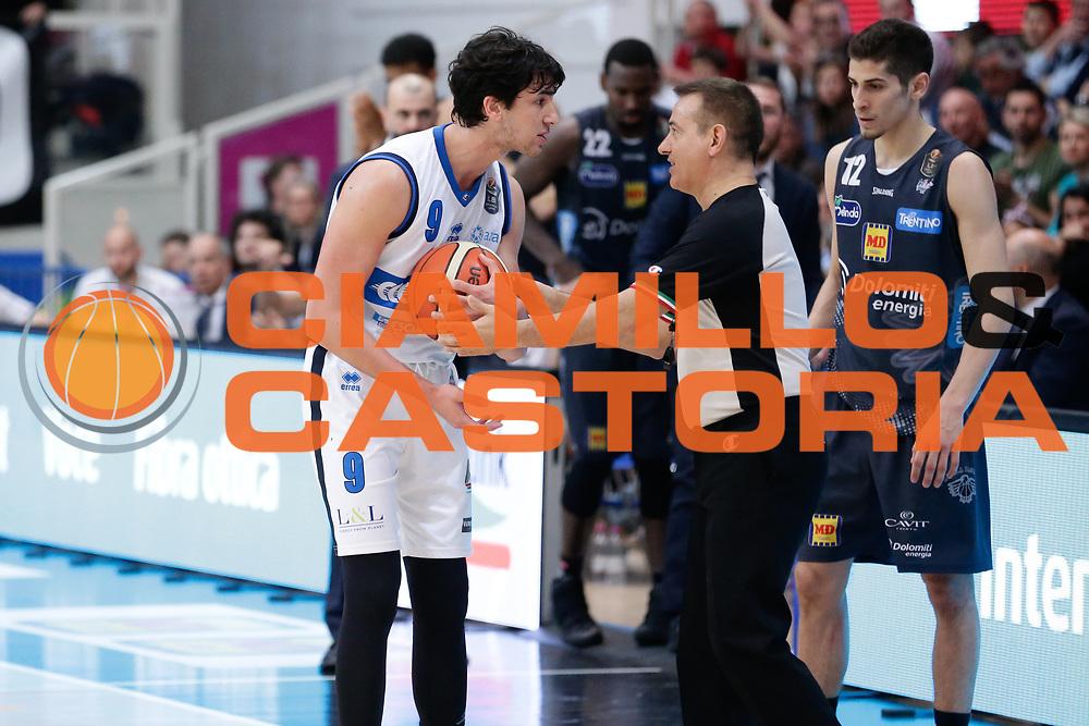Marco Lagana<br /> Dolomiti Energia Aquila Basket Trento - Germani Basket Brescia Leonessa<br /> Lega Basket Serie A 2016/2017<br /> PalaTrento, 23/04/2017<br /> Foto Ciamillo-Castoria / M. Brondi