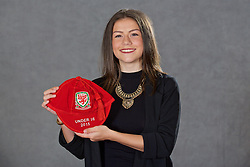 NEWPORT, WALES - Saturday, May 21, 2016: Ffion Morgan at the Under-16's cap presentation at the Celtic Manor Resort. (Pic by David Rawcliffe/Propaganda)