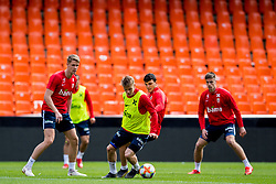 March 22, 2019 - Valencia, SPAIN - 190322 Martin Ødegaard and Mohamed Elyounoussi of Norway during a training session on March 22, 2019 in Valencia..Photo: Vegard Wivestad Grøtt / BILDBYRÃ…N / kod VG / 170313 (Credit Image: © Vegard Wivestad GrØTt/Bildbyran via ZUMA Press)