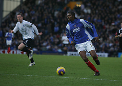 PORTSMOUTH, ENGLAND - SATURDAY, DECEMBER 9th, 2006: Kanu of Portsmouth during the Premiership match against Everton at Fratton Park. (Pic by Chris Ratcliffe/Propaganda)