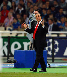 Athens, Greece - Wednesday, May 23, 2007: Liverpool's manager Rafael Benitez during the UEFA Champions League Final against AC Milan at the OACA Spyro Louis Olympic Stadium. (Pic by David Rawcliffe/Propaganda)