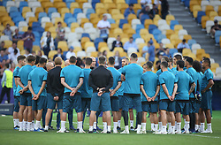 May 25, 2018 - Kiev, Ukraine - Real Madrid team training session at the Olympic Stadium in Kiev, Ukraine on May 25, 2018, on the eve of the UEFA Champions League final football match between Liverpool and Real Madrid. (Credit Image: © Raddad Jebarah/NurPhoto via ZUMA Press)