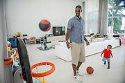 Chris Bosh at his home In Miami Beach, FL