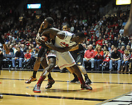 "Ole Miss' Murphy Holloway (31) vs. Missouri's Keion Bell (5) at the C.M. ""Tad"" Smith Coliseum on Saturday, January 12, 2013. Ole Miss defeated #10 ranked Missouri 64-49."