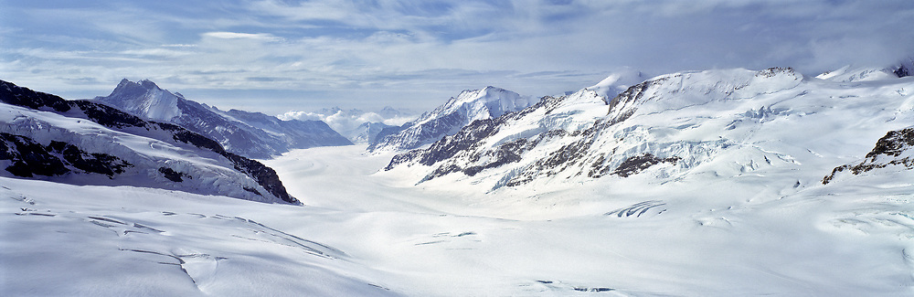 One of the spectacular views from the Jungfraujoch is south to the Grossaletschglacier, Switzerland. ©Ric Ergenbright
